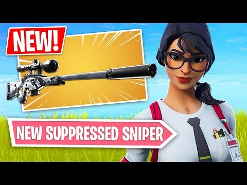 Fortnite *NEW* Suppressed Sniper Rifle Gameplay!! (Fortnite Battle Royale)
