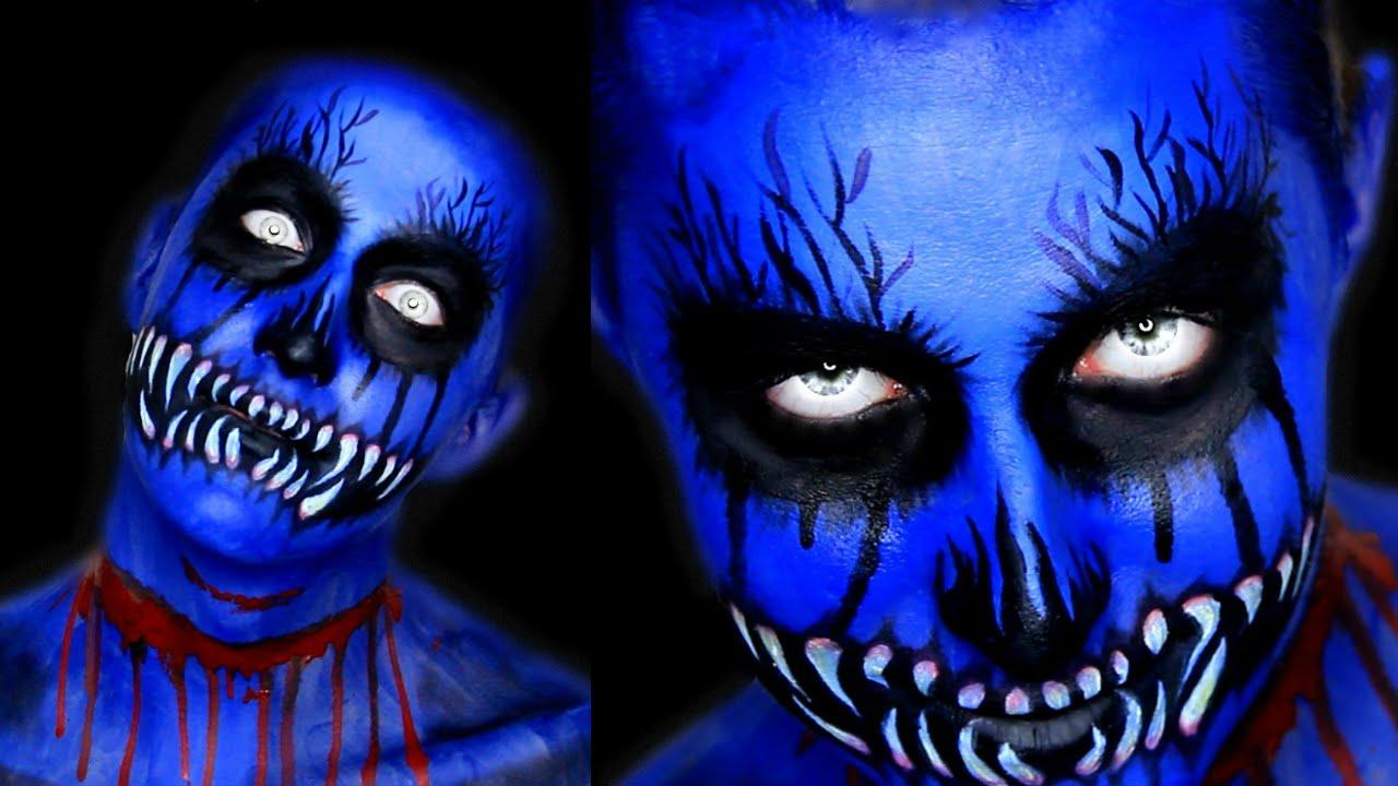 DEMON MAKEUP TUTORIAL | DIY HALLOWEEN MAKEUP - YouTube  Demon Halloween Makeup