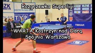 Rozgrzewka: UKS Warta Kostrzyn nad Odrą - Spójnia Warszawa / Tenis Stołowy