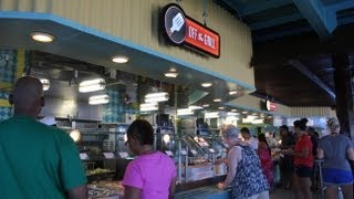 Tour of the Lido Deck Buffet on Carnival Cruise in HD - All You Can Eat Cruise