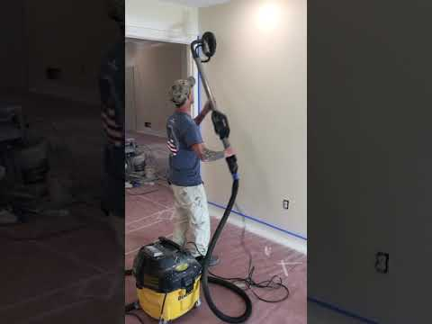 How to sand walls before painting