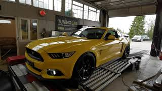 2016 Ford Mustang 5.0 V8 Rolling Road dyno custom remapping