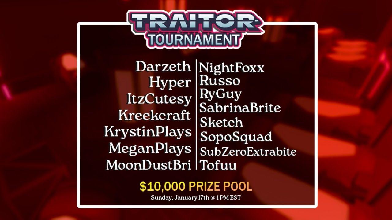 🔴LIVE $10,000 Traitor Tournament! Roblox Traitor Tournament