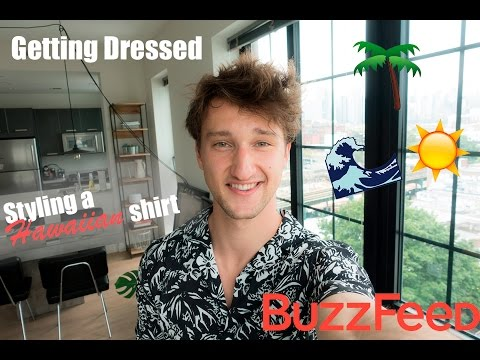 Getting Dressed: Styling a Hawaiian Shirt for BuzzFeed