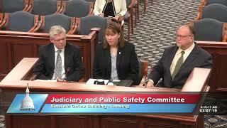 Sen. Runestad testifies on bill to deter mail theft in Michigan