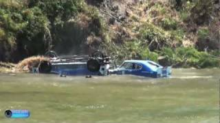 Ford Capri Perana Crash at Targa Wrest Point 2012