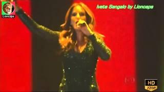 Ivete Sangalo sensual num espectáculo musical