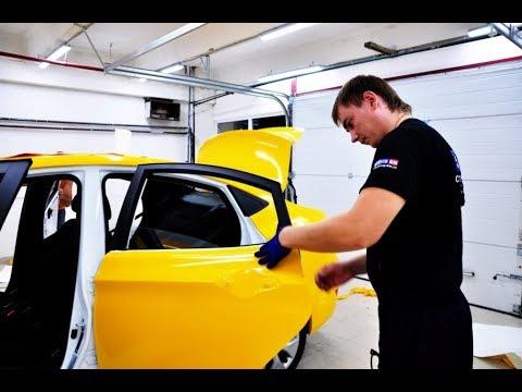 Жидкая резина для такси - покраска в желтый цвет TonAuto