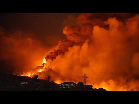 La Palma Volcano Eruption Update; Large Explosions, Volcanic
