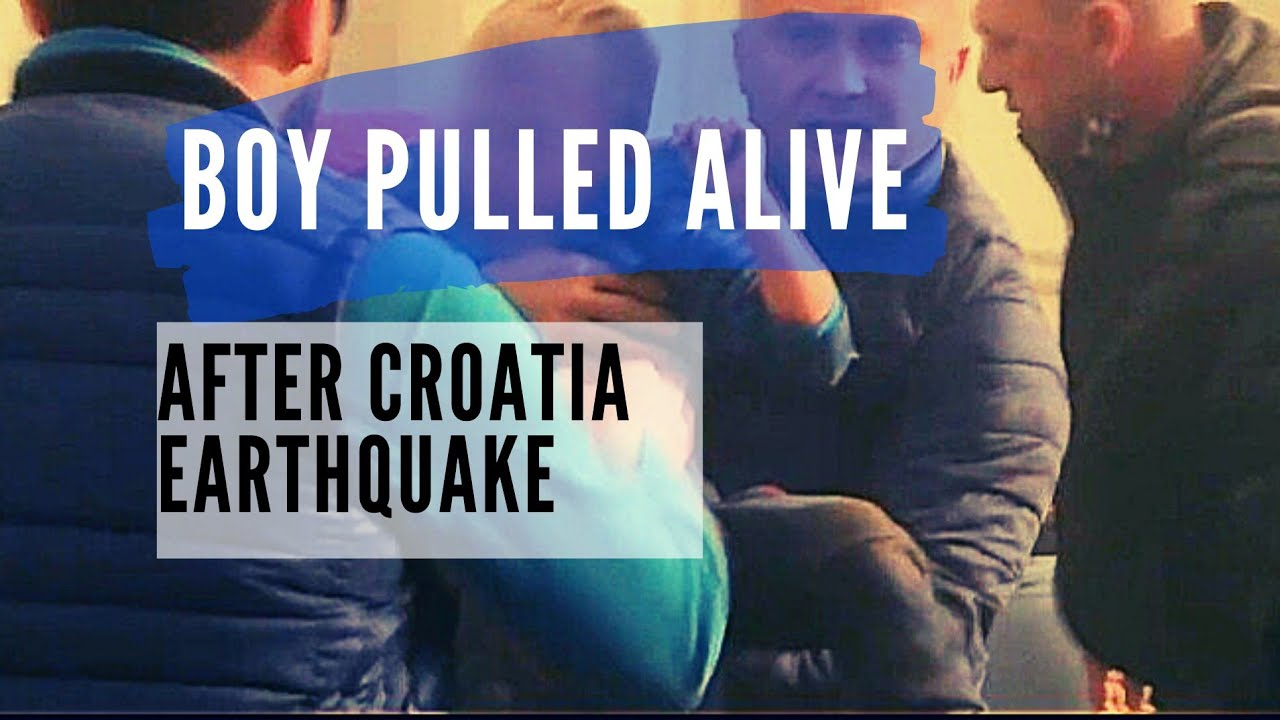 WATCH: Boy is pulled alive from rubble after 6.3-magnitude earthquake rocks Croatia