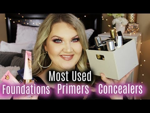 MOST USED FOUNDATIONS + CONCEALERS + PRIMERS   2017