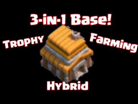 Clash Of Clans Townhall 5 Farming Trophy Hybrid 3 In 1 Base Fully Maxed Townhall 5 Base Layout