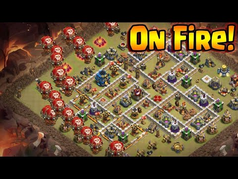 Max Balloon On Fire | Best Air Army 3 Star War Attack TH12 | Clash Of Clans War