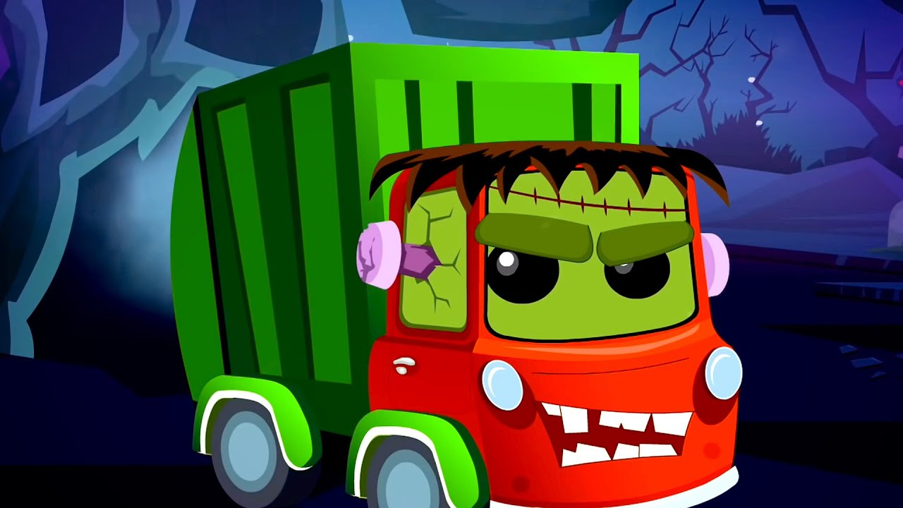 Hello Its Halloween   Scary Nursery Rhymes for Children   Car Cartoon videos by Kids Tv Channel