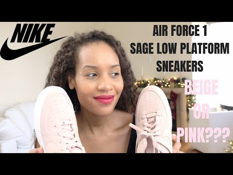 Unboxing Nike Air Force 1 Sage Low Size 12 Beige Or Pink