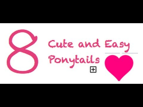 8 cute and easy ponytails back to school hairstyles