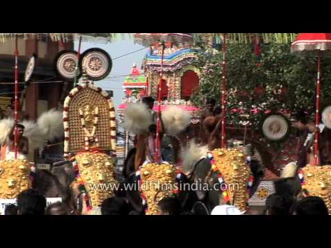 Thrissur Pooram Kudamattam - Kerala