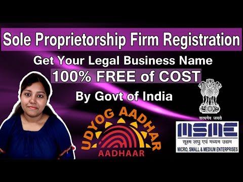 Sole Proprietorship Registration Udyog Adhaar | Register Your Business with MSME