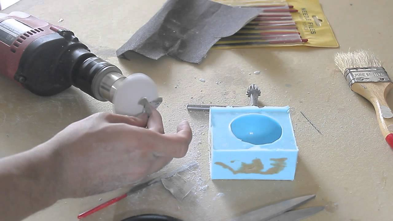 Eyeball Casting From Light Bulb With Clear Resin Amp Rubber