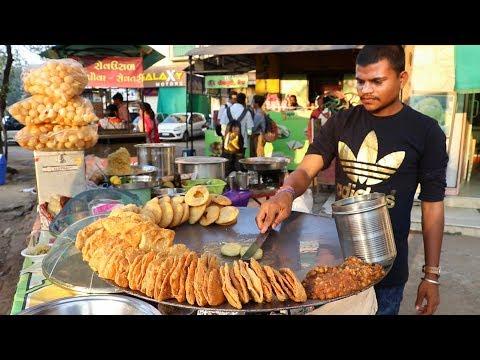 DELHI CHAAT MADE WITH DESI GHEE   Ragda Patties And Kachori Chaat   Indian Street Food