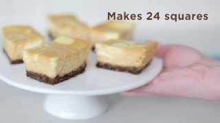 Pumpkin Swirl Cheesecake Squares