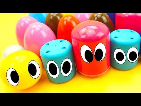 Куча сюрпризов капсул с игрушками из мультиков