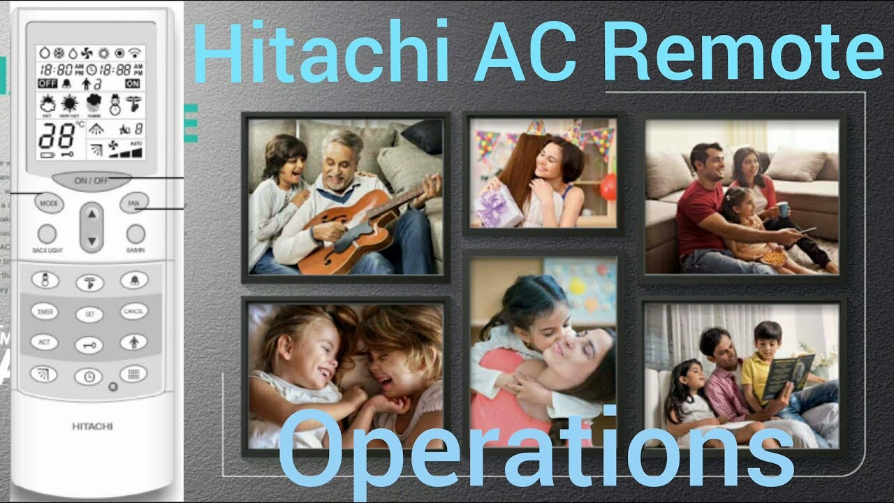 hitachi ac remote functions [ Basic operations ]