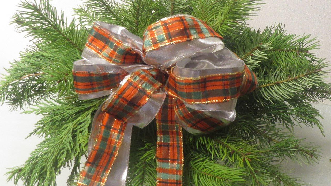 Schleife f r tannenbaum geschenke raumdekoration deko for Raumdekoration ideen