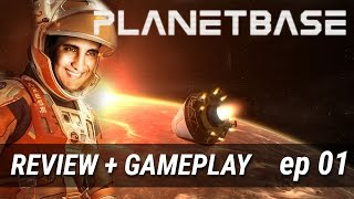 Review + Gameplay - PlanetBase Ep 01