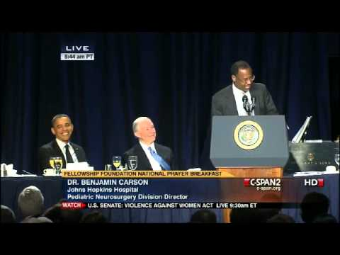 Dr. Benjamin Carson's Amazing Speech At The National Prayer Breakfast With Obama Present