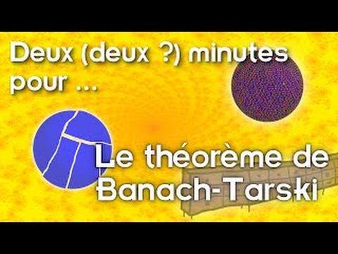 Deux (deux ?) minutes pour. Le théorème de Banach-Tarski