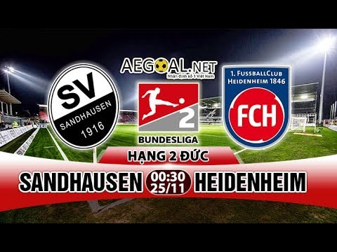 LIVE | SANDHAUSEN VS HEIDENHEIM | BUNDESLIGA 2 HD
