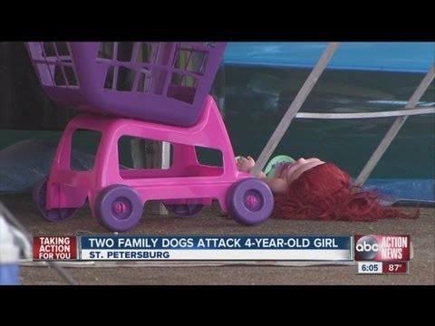 Two dogs attack girl, 4, in family home, then turn on the father