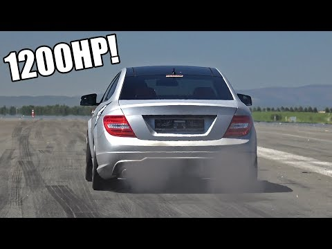 1200-HP Mercedes C63 AMG Exhaust Sound - GAD Motors-Tuned