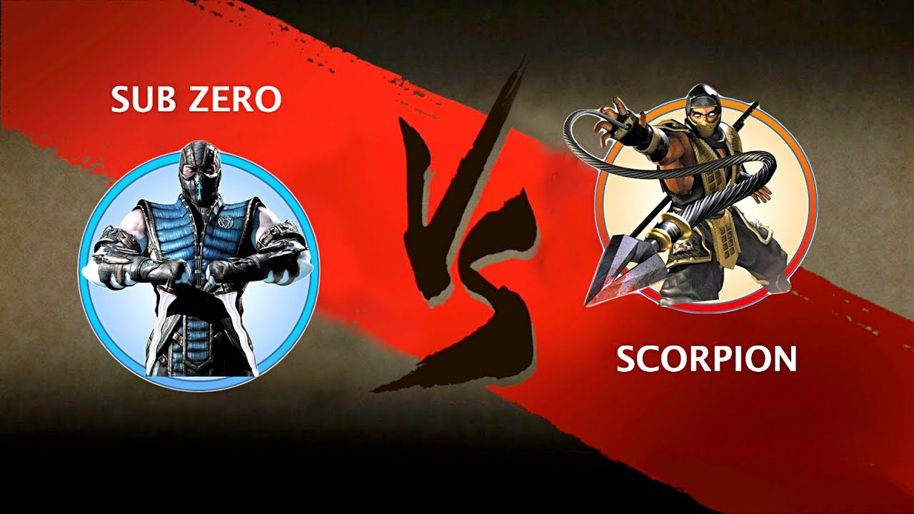 sub zero vs scorpion king mortal kombat mod shadow