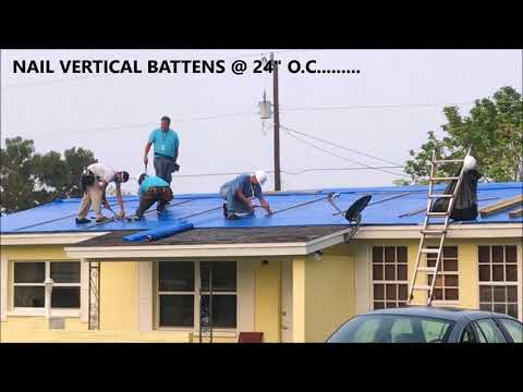 Operation Blue Roof - Installation procedure - Hurricane Irma