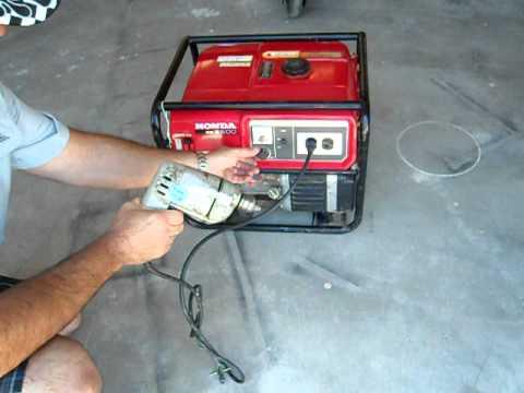 EM 2500 Honda Generator Part 2 - YouTube