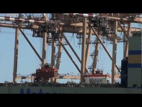 See the port of Honolulu up close, in under 15 mins. Port Ops.