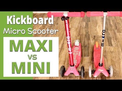 Micro Scooter Comparison   Maxi Vs. Mini For Kids