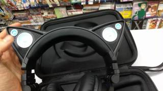 Распаковка наушников Brookstone Axent Wear ( Неко ушки) Аниме магазин Pulsar
