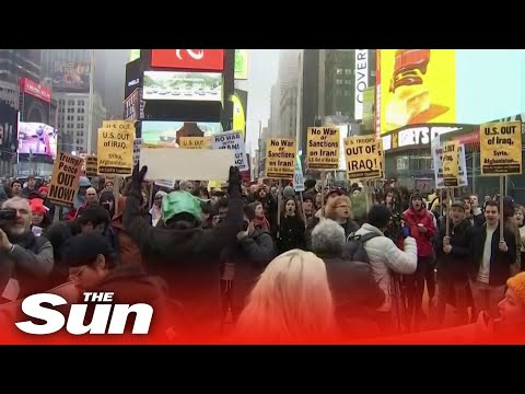 Anti-war protesters rally in several US states after Iranian general, Qasem Soleimani, killed