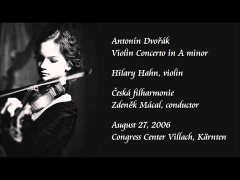 Dvořák: Violin Concerto in A minor - Hahn / Mácal / Czech Ph