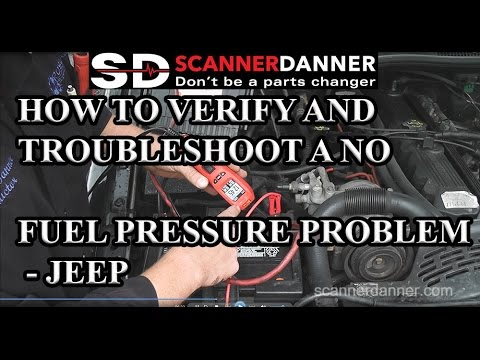 How to verify and troubleshoot a no fuel pressure problem - Jeep