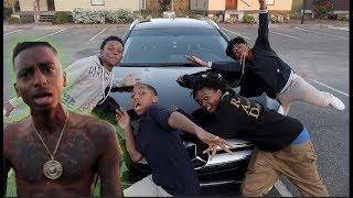 THABADKID'S STOLE FUNNYMIKE CAR PRANK!!! (OMG!!)