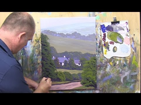 "Learn To Paint TV E17 ""Painting A Welsh Farmhouse"" Landscape Painting in Acrylics For Beginners."