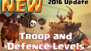 New Level 60 Heroes And Max Troop Levels Th12 New Offense Levels
