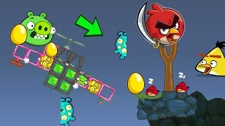 Bad Piggies - THE ALIEN PIG STEALS GOLDEN EGG BEFORE ANGRY BIRDS'S EYES!