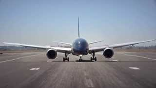 Décollage à la verticale du Boeing Dreamliner 787-9