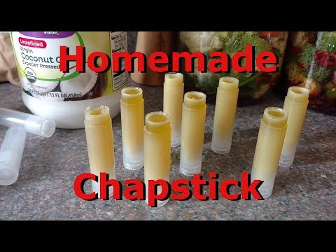 Homemade Peppermint Chapstick/Lip Balm