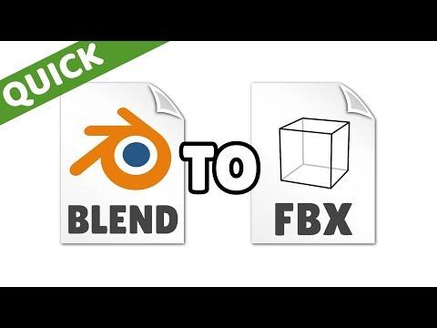 How To Convert A BLEND File To FBX (Blender)